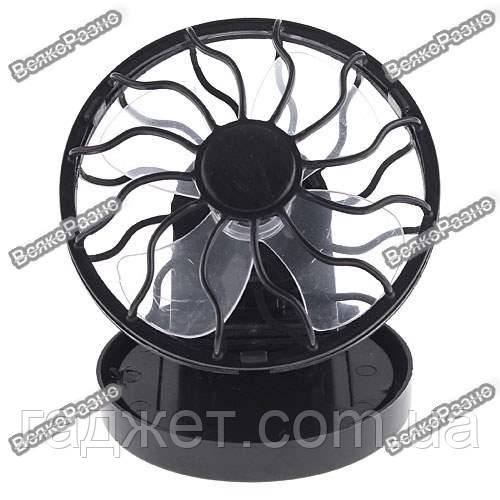 Вентилятор на солнечной батарее с клипсой для козырька головного убора.Вентилятор на солнечной батарее