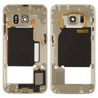 Средняя часть корпуса для мобильного телефона Samsung G925F Galaxy S6 EDGE, золотистая