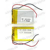 Батарея (аккумулятор) для видео регистратора, BlueTooth гарнитуры 900мАч , Li-Pol 3.7В, 50*34*4.8 мм