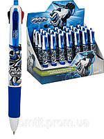 """Ручка шариковая, автоматическая, 4 цвета стрежня - """"Max Steel"""""""