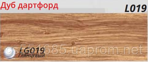 L019 Дуб дартфорд - плінтус підлоговий з кабель-каналом Line Plast 58 мм