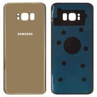 Задняя панель корпуса для мобильного телефона Samsung G955F Galaxy S8 Plus, золотистая, original (PRC), maple gold