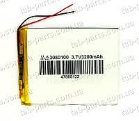 Батарея (аккумулятор) для планшета 3200мАч , Li-Pol 3.7В, 100*80*3 мм