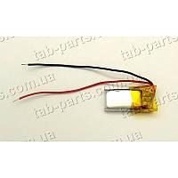 Батарея (аккумулятор) для видео регистратора, BlueTooth гарнитуры 60мАч , Li-Pol 3.7В, 20*10*3.9 мм