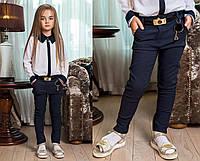 """Детские стильные брюки + ремень для девочек 0009 """"Тиар Брелок"""""""