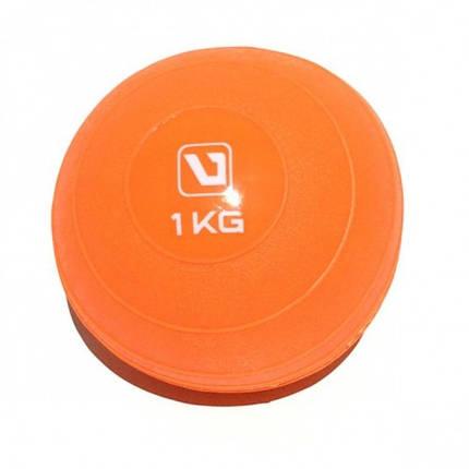 Медбол 1 кг LiveUp SOFT WEIGHT BALL, фото 2
