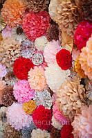 Бумажные помпоны Киев. Бумажные шарики. Бумажные цветы. Купить помпоны из бумаги Киев.