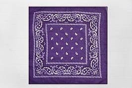 Бандана классика фиолетовая