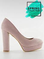 11-15 Розово-бежевые женские туфли 6086 41,40,39,37