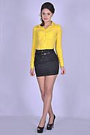Чёрная модная юбка женская для девочки Калерия Размер 40-46