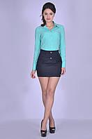 Мини модная юбка женская Тёмно-синяя Калерия Размер 40-+46