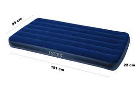 Матрас надувной велюр Интекс Intex 68757 99*191*22 см матрац