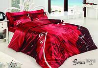 Атласное постельное белье евро размера, фото 2