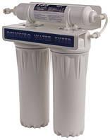 Проточный бытовой фильтр на две колбы с пост - фильтром GL(10-2+T)