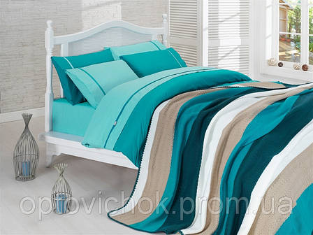 Комплект Евро постельного белья с пледом, фото 2