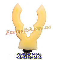 Рогач концевой Carp Hunter для род пода силиконовый желтый