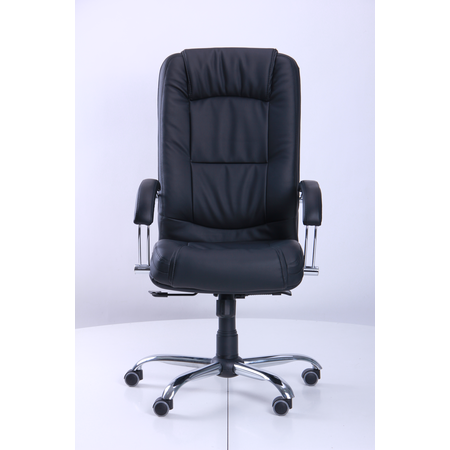 Кресло Марсель Хром Флекс-кожа черная Лайт (AMF-ТМ)