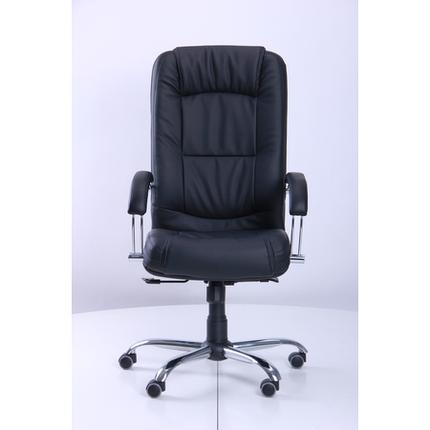 Кресло Марсель Хром Флекс-кожа черная Лайт (AMF-ТМ), фото 2