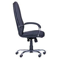 Кресло Марсель Хром Флекс-кожа черная Лайт (AMF-ТМ), фото 3
