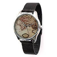Часы наручные Карта металл
