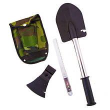 Туристический набор 4 в 1 пила нож топор лопата набор походный универсальный