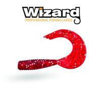Силиконовая приманка Wizard TRIPLE Tail Grub 3.5 см Red Silver 10 шт/уп