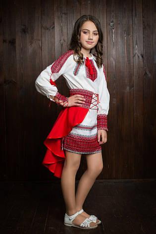 """Элегантное вышитое подростковое платье """"Украинка"""", фото 2"""
