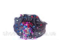 Браслет Лягушка с цветными кристаллами