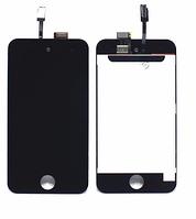Дисплей (экран) для Apple iPod Touch 4G + с сенсором (тачскрином) черный