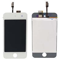 Дисплей (экран) для Apple iPod Touch 4G + с сенсором (тачскрином) белый Оригинал