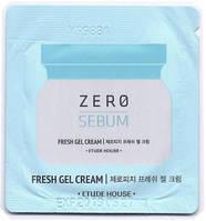 Etude House Zero Sebum Fresh Gel Cream Освежающий матирующий гель-крем