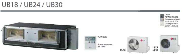 Сплит-система канального типа LG UB18/UU18
