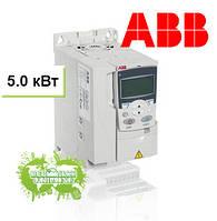 Преобразователь частоты ACS355 5,5кВт 400В 3Ф IP20, фильтр EMC2, Solar pump drive, R3 солнечный инвертор