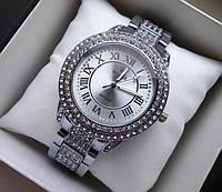 Наручные часы Rolex серебро с камнями 2246 (копия)