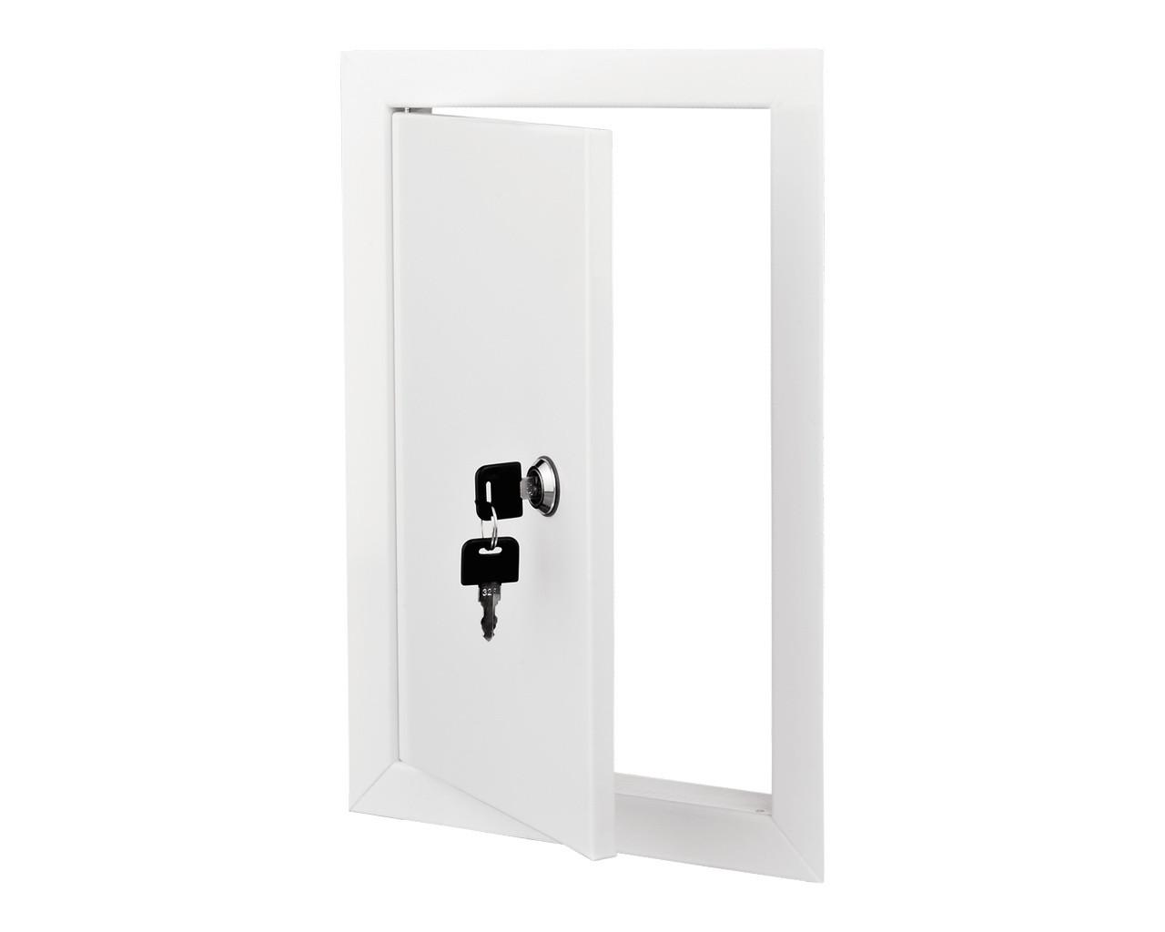 Дверца ревизионная металлическая 350/350 с замком