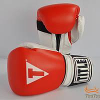 Боксерские перчатки TITLE кожаные, фото 1