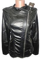 Куртка женская 72 кожзам на змейке (деми)