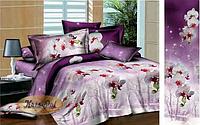 """Комплект постельного белья двуспальный, ранфорс, 3D """"Магия орхидей"""""""