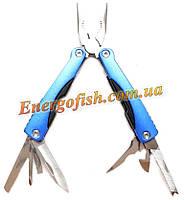 Мультитул (Плоскогубцы,нож,ключ,пилка,отвертки) 9 в 1 синий