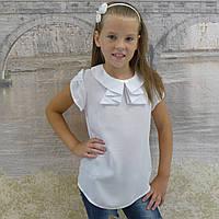 """Блузка для девочки """"Жабо""""(белая)"""