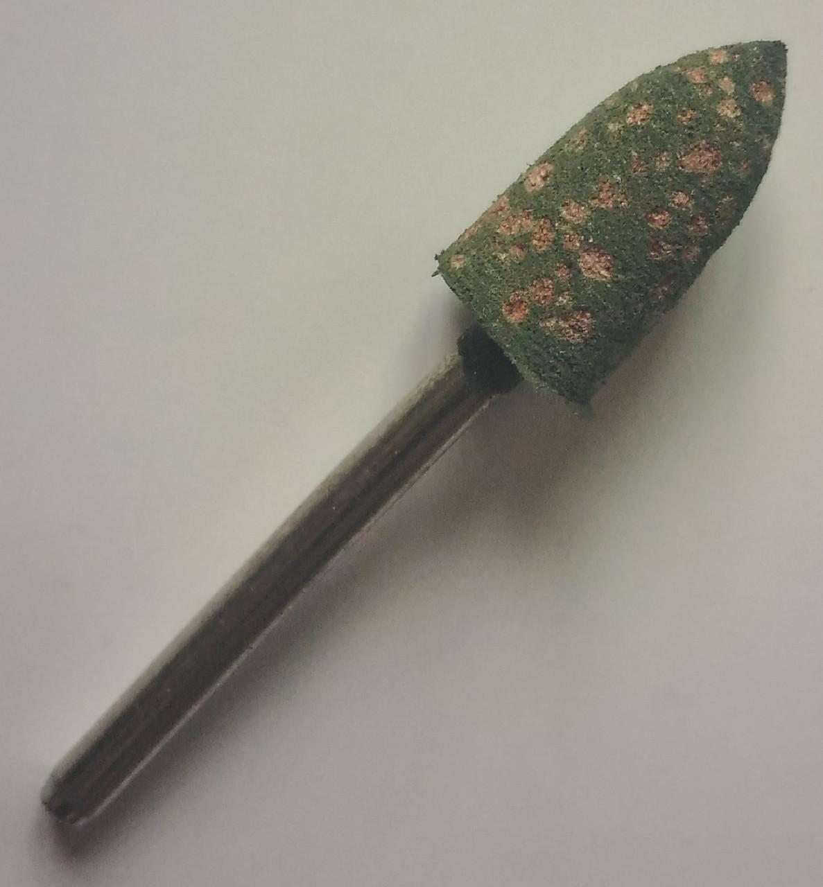 Шлифовальная насадка - пуля 8 мм, Материал - резина с абразивом. Абразивная шарошка
