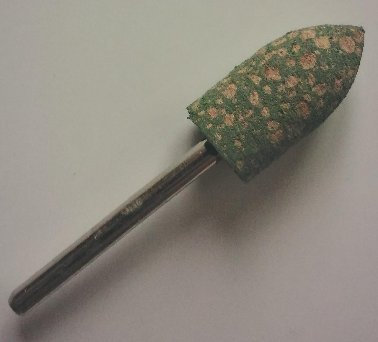 Шлифовальная насадка - пуля 10 мм, Материал - резина с абразивом. Абразивная шарошка
