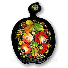 Доска декоративная петриковская роспись (яблоко)