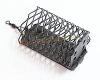 Кормушка фидерная 50 г прямоугольная черная закрытое дно