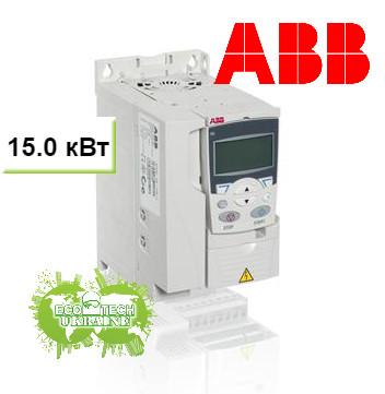 Преобразователь частоты ACS355 15 кВт 400В 3Ф IP20, фильтр EMC2, Solar pump drive, R4 солнечный инвертор