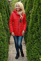 Куртка женская стильная красная осень