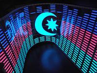 Эквалайзер на стекло заднее автомобиля Флаг Азербайджана 90/25см
