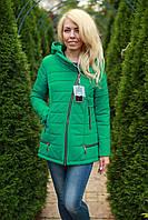 Куртка женская модная зеленая осенняя