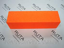 Неоновый бафик для ногтей (оранжевый)