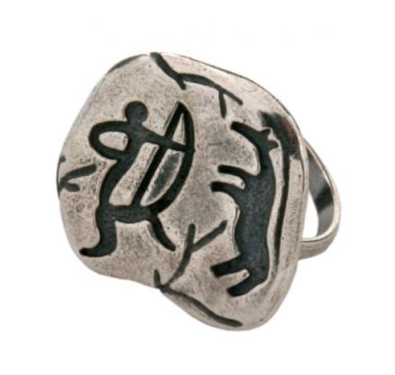 """Кольцо """"Хололо"""" покрытое серебром (e3853090)"""